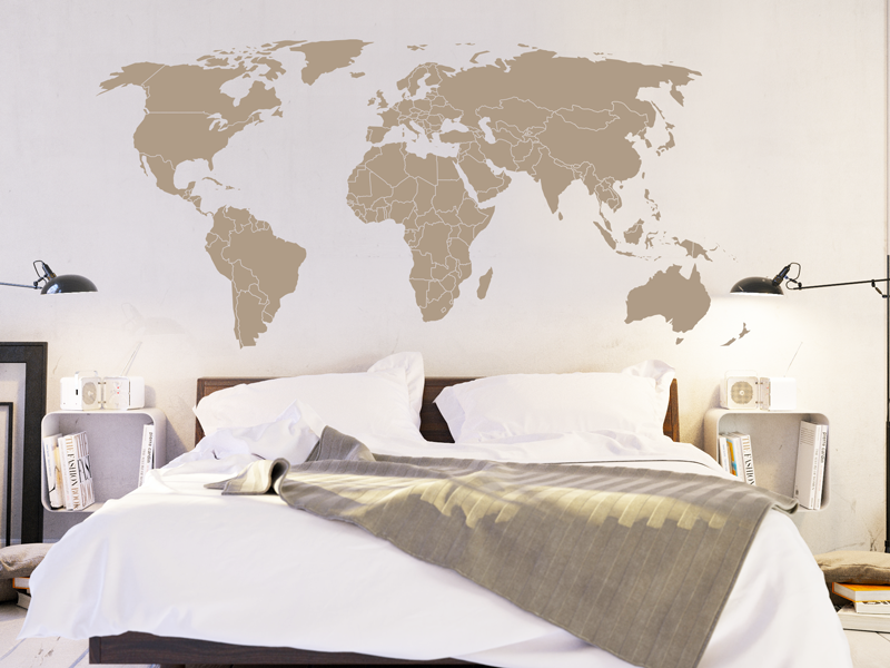 sticker planisph re mappemonde fronti res magic stickers. Black Bedroom Furniture Sets. Home Design Ideas