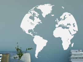 Sticker Mappemonde Globe Terrestre