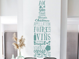 Sticker Bouteille de Vin Text