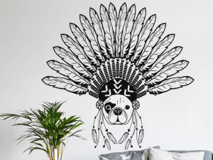 Sticker Bouledogue Indien Boho