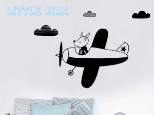 Sticker Petit Avion Enfant
