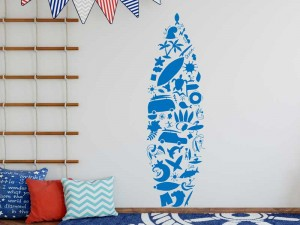 Sticker Planche Surf Icônes