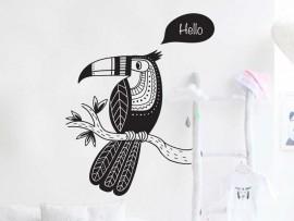 Sticker Toucan Perroquet