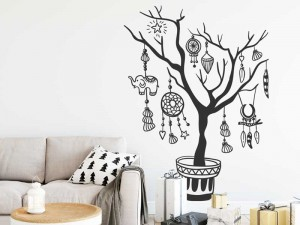Sticker Arbre Boho