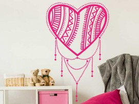 Sticker Coeur Boho