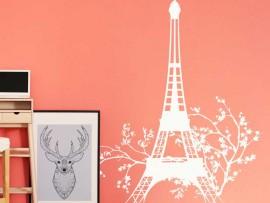 Sticker Tour Eiffel Floral