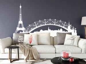 Sticker Paysage Paris Tour Eiffel