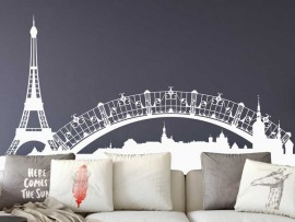 Sticker Paysage Paris Tour Eiffel