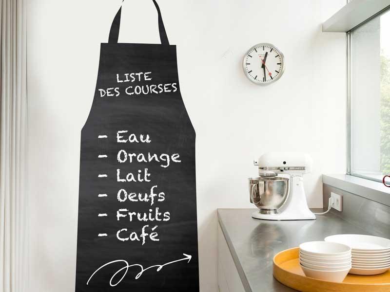 sticker ardoise tablier de cuisine magic stickers. Black Bedroom Furniture Sets. Home Design Ideas