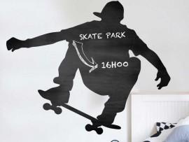 Sticker Ardoise Skateur