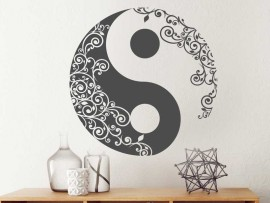 Sticker Yin-Yang Floral