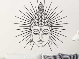 Sticker Bouddha Soleil