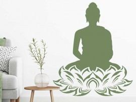 Sticker Bouddha Lotus