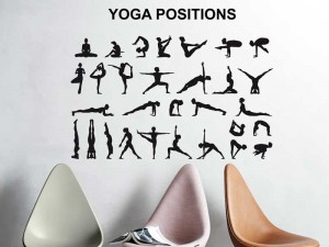 Sticker Yoga Positions