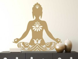 Sticker Bouddha Lotus 2