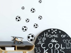 Sticker Kit Ballons de Foot Noir