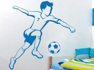 Sticker Joueur de Foot Enfant 2