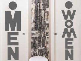 Sticker WC Women & Man Text