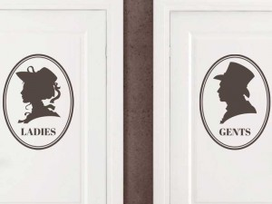 Sticker WC Ladies & Gents Vintage
