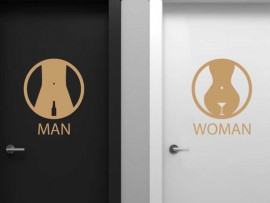 Sticker WC Man & Women Bar