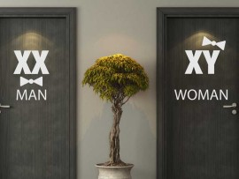Sticker WC Man & Women Chromosomes