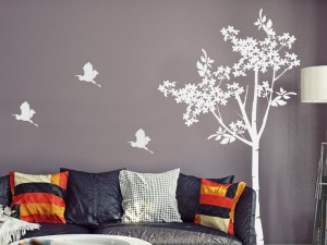 Sticker Arbre Floral