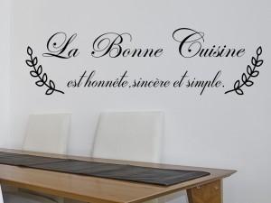 Sticker Citation La Bonne Cuisine
