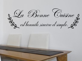 Sticker Citation La Bonne Cuisine