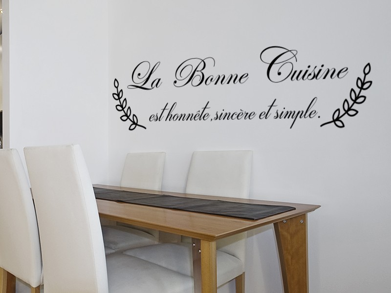 Sticker Citation La Bonne Cuisine Magic Stickers