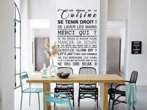 Sticker Les Règles de la Cuisine Sarcastique
