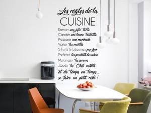 Sticker Les Règles de la Cuisine 2