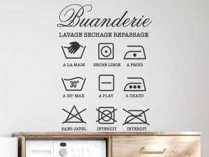 Sticker Buanderie