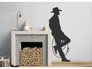 Sticker Cowboy Silhouette