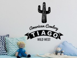 Stickers Cowboy Cactus Wild West