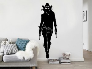 Sticker Cowgirl Silhouette