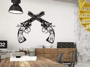 Sticker Revolver Cowboy