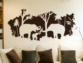 Sticker Paysage Afrique Elephant