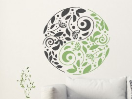 Sticker Yin-Yang Floral 2