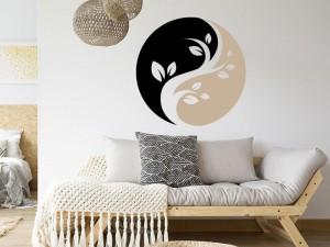 Sticker Yin-Yang Floral 3