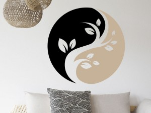 Sticker Yin-Yang Floral 3