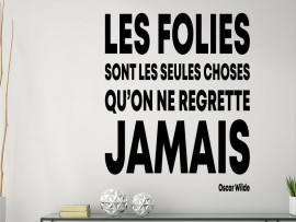 Sticker Citation Les Folies de Oscar Wilde