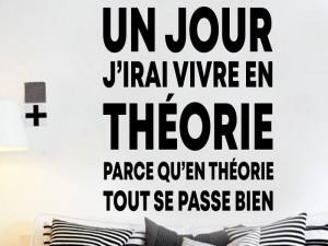 Sticker Citation Vivre en Théorie