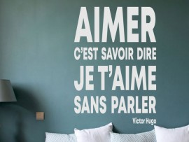 Sticker Citation Aimer de Victor Hugo