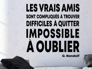 Sticker Citation Les Vrais Amis de Randolf