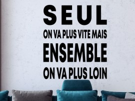 Sticker Citation Seul on va plus vite