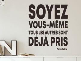 Sticker Citation Soyez vous même de Oscar Wilde