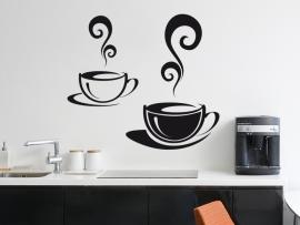sticker autocollant tasses cafe cuisine