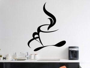 sticker tasse caf original magic stickers. Black Bedroom Furniture Sets. Home Design Ideas