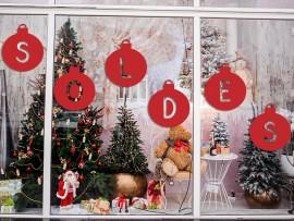Sticker Soldes Boules de Noël