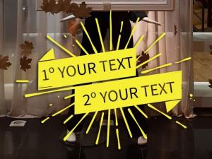 Sticker Explosion Texte Personnalisable 2 lignes